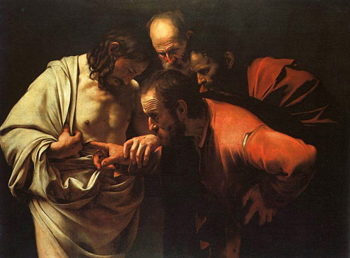 Caravaggio incredulity of saint thomas.
