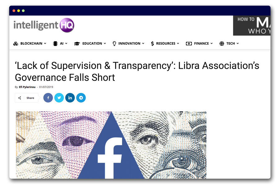 Lack of Supervision & Transparency': Libra