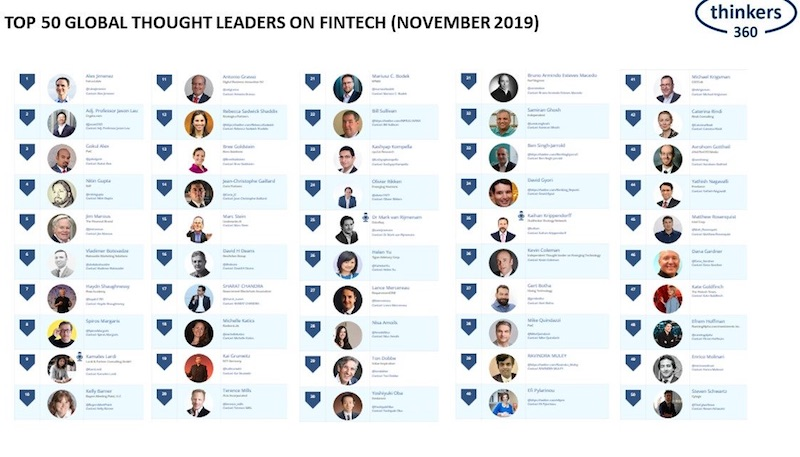 Top 50 Global Thought Leaders and Influencers on FinTech