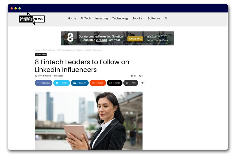 8 Fintech Leaders to Follow on LinkedIn Influencers