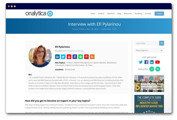 Interview with Efi Pylarinou